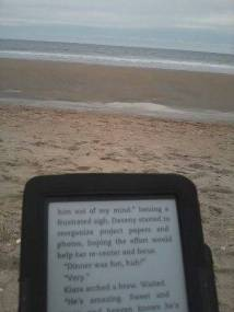 Kindle on the beach