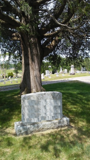 altered Hubbard gravestone